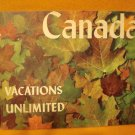 Canada Vacations Unlimited 1950s Travel Brochure
