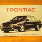 1994 Pontiac Grand Am Owner's Manual