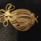 Fancy Fish Vintage Pin with Rhinestones, 2-1/8 Inches Long