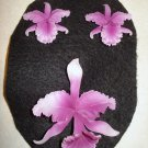 West Germany Orchid Vintage Pin and Earrings, Beautiful, signed