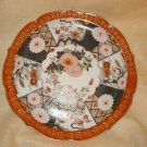 "Large 10.5"" Oriental Plate, Gold Trim, E W Japan"