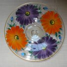 "1930s Westmoreland Hand Painted Bright Floral 8"" Comport, Ball Footed Cased"
