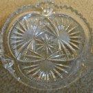 Leaded Glass Crystal Fan Patterned Low Dish, 5-3/4 dia.