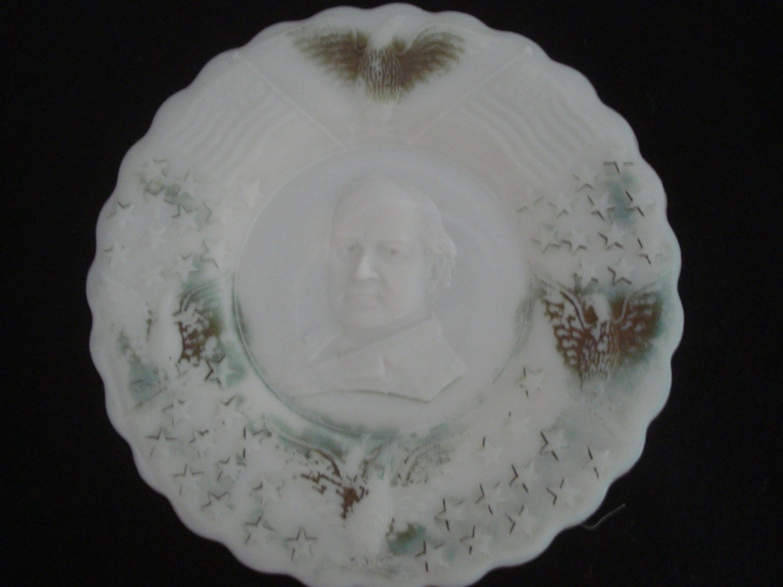 1908 Historical Milk Glass Wm. Jennings Bryan Campaign Plate