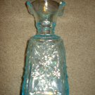 "Imperial Ice Blue Carnival Glass Face Vase, 8.5"" High, made in the USA"