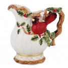 Winterberry Cardinal Pitcher