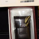 S.T. DUPONT BLACK  LEATHER LIGHTER  CASE DCA050794