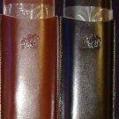 COLIBRI  Black Leather Twin Cigar Case & CUTTER *