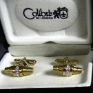 Colibri GOLD BARREL CUFFLINKS FREE SHIPPING