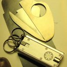 Colibri CIGAR GUILLOTINE CUTTER STAINLESS KEY RING