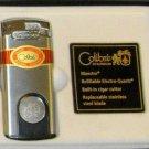 Colibri Maestro CIGAR   Lighter Set  Guillotine  SILVER