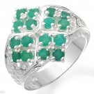 Genuine Emeralds and Topaze ring size 7.5