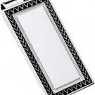 Colibri Silver & Lacquer Border Design Money Clip