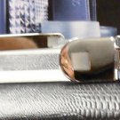 Colibri Silvertone KEY RING TIE BAR MOTHER PEARL  SET