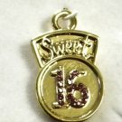 SWEET 16 GOLD BIRTHDAY  CHARM NECKLACE