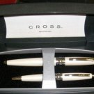 CROSS ROLLERBALL  PEN  SET WEDDING WHITE NEW