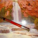 WATERMAN FOUNTAIN PEN RED MEDIUM NIB NEW