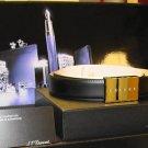 S.T. Dupont Mens Belts - Platinum Finish  Diamonds