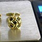 Dolan BULLOCK 14K Gold Cufflink  & ONYX  10.5G