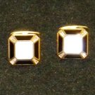 Dolan BULLOCK 18K Gold Cufflink  ONYX & pearl 16.5G