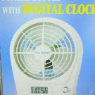 POTABLE DESKTOP FAN WITH CLOCK NEW