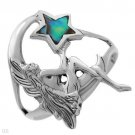 Beautifully Crafted ABALONE  STYLISH STERLING   RING