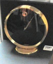 MOVADO BRASS SHELF DESK CLOCK TGO 110M NEW