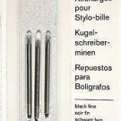 6  Cross Matrix ballpoint pen refills Black Fine 8572-1