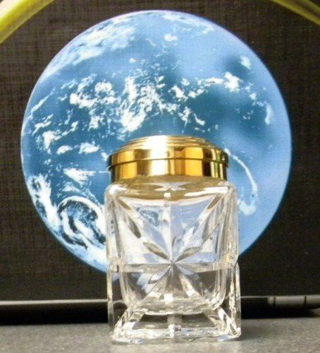 CRYSTAL FOUNTAIN PEN  INKWELL FOR CROSS ST DUPONT