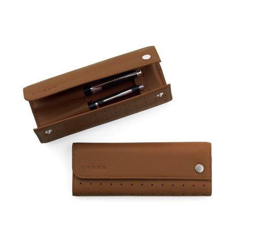 CROSS double  Leather Pen case autocross toffe  ac128-4
