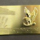 2 Colibri MONEY CLIP american 3-d  gold diamond cut