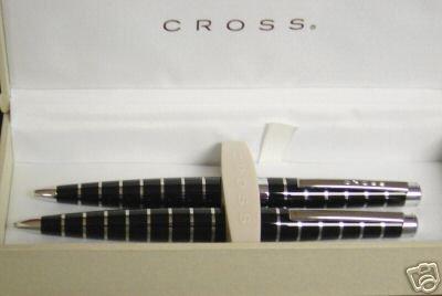 CROSS LIMTD EDITION BLACK CHROME PEN PENCIL NEW