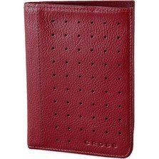Cross red  Leather Passport Travel Wallet ac127-2r