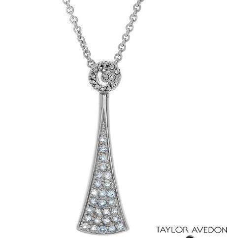 krementz TAYLOR AVEDON  New pendant necklace BLUE
