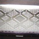 Colibri Cigarette Case Diamond-cut Polished Silver