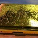 Colibri Cigarette Case  DIAMOND CUT GOLD PLATED