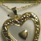 KREMENTZ 14kt  GF valentine gift  heart mop  Locket