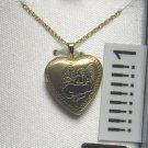 krementz NECKLACE LOCKET angel 14K GOLD Cuf-pf