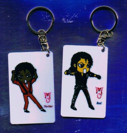 Michael Jackson Anime Keychain Quot Thriller Quot Amp Quot Bad Quot Themes