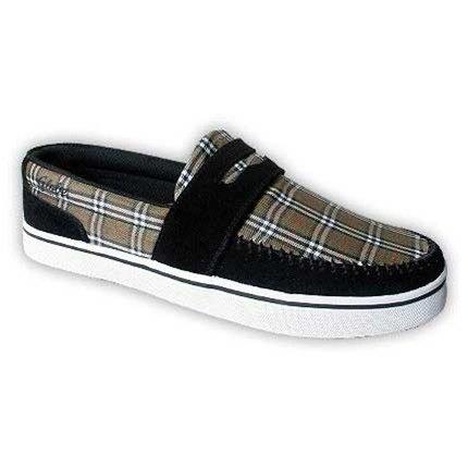 Globe The Don Black Olive Plaid Shoes - US Size 10 Mens