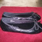 Punkrose / Addict Black Quilted Casual Flats 6 1/2