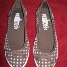 Punkrose Joanie Wedge Brown White Polka Dot Shoes - 7