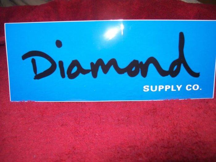 Diamond Skateboards Sticker - Blue / Black
