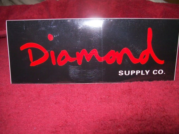 Diamond Skateboards Sticker - Black / Red