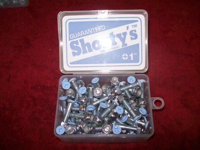 "Shorty's 1"" Phillips Hardware - Boxed Set of 60 Lt Blue"