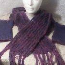 loom knitted set.. lavender