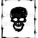 Skull in bamboo square /SUPER SOFT TEE / FREESHIP  Unisex Men t-shirt  - Steam Cool Punk : XLarge