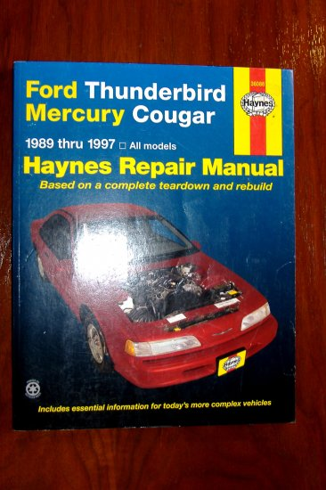 1997 Ford Thunderbird Owners Manual