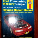 1989 - 1997 Ford Thunderbird Mercury Cougar Haynes Auto Repair Manual