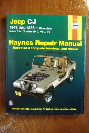 1949 - 1986 Jeep CJ models Scrambler Renegade Laredo & Golden Eagle Haynes Repair Manual